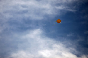 balloon being released